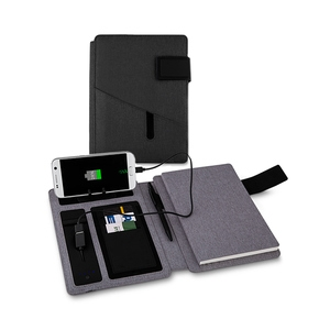 Caderno com Carregador Power Bank 4000 mAh Personalizado