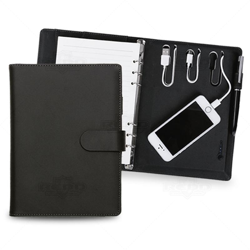 1702c15d9 Caderno Personalizado com Power Bank 4000 mah - CAD21 - Carregador ...