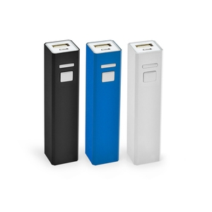Carregador Power Bank de Metal para Brindes 2600mAh