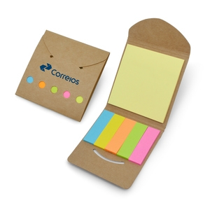 Mini Bloco de Anotações Ecológico com Post-it